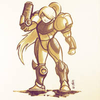 Inktober 2016 day 1 - Samus by evilself