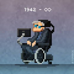 Stephen Hawking by evilself