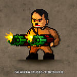 Pixel Hitler from Wolfenstein by evilself
