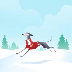 Snow Dog by hellcorpceo