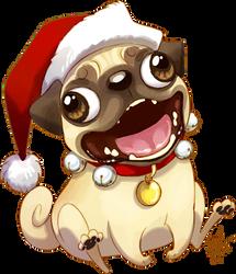 Christmas Pug by hellcorpceo