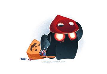 A Very Mothman Halloween by hellcorpceo