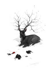 Black Stag by hellcorpceo
