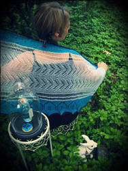 Dreams of Alice Shawlette by GinaHouse