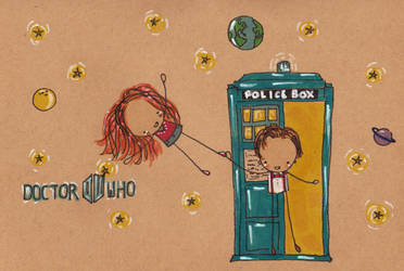 The Doctor and Amy Pond by Pinkie-Perfect