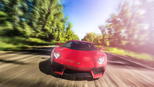 RED Aventador by Ankash