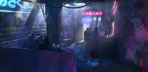 Cyberpunk-bar by Damnagy