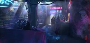 Cyberpunk-bar by Damnagy