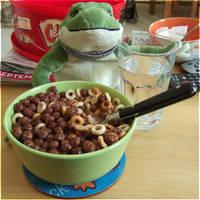 Froggy has my Breakfast by laracoa