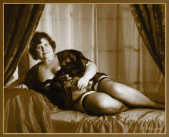Black LIngerie Sepia by Charlie-C-M