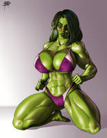 She Hulk Commission by megaween