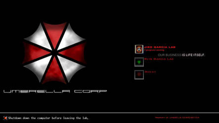 UMBRELLA CORPORATION LOGON by nin0ybaltazar09