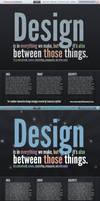 Typography based web portfolio by CameronLayfield