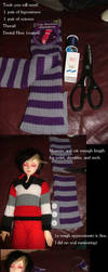 Make a BJD Sweater our of Legwarmers! by darkawaii