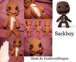 Crochet Sackboy for Brother by FeatheredDragon