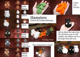 Crochet Hamsters woot by FeatheredDragon