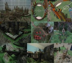 My Hogwarts model by SandrinoP