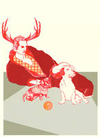 Fashionable Santa by lienertje