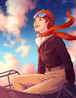 Amelia Earhart by tamiart