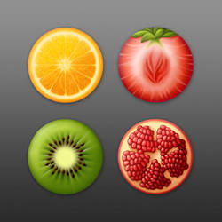 Fruit Icons by tamiart