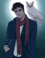 A Boy with a Bird by tamiart
