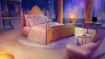 Olympus Master Bedroom at Night by tamiart