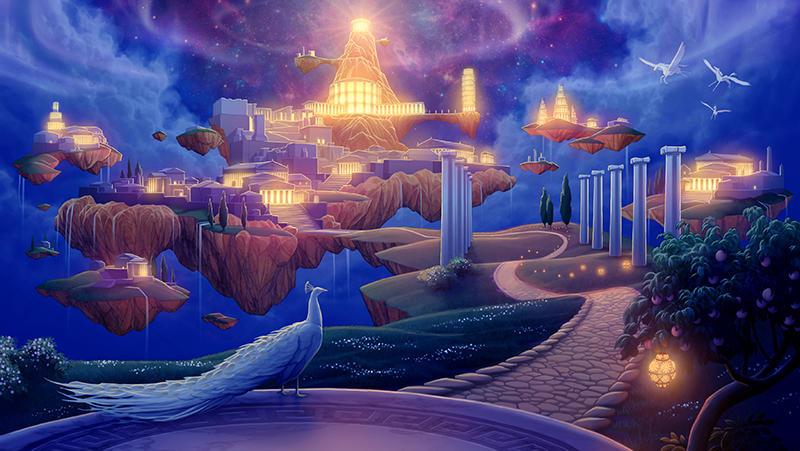 Olympus at Night by tamiart