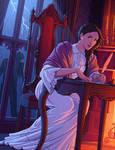 Mary Shelley by tamiart