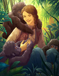 Dian Fossey by tamiart