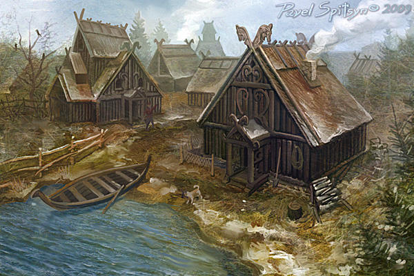 Northern village by CG-Zander