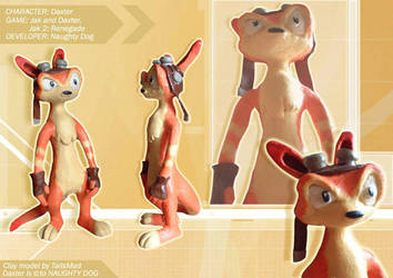 clay model Daxter by TailsMad