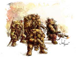 Ork Kommando's by Musibat-Khan