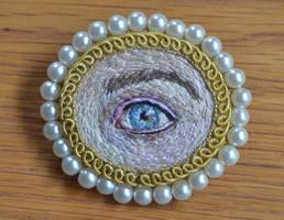 Lover's Eye brooch by imagination-heart