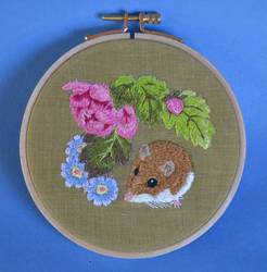 Mouse embroidery by imagination-heart