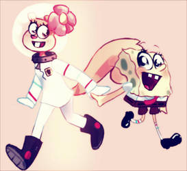 Spongebob and Sandy! by 91vadpire
