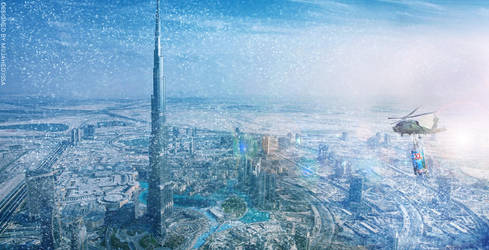 Snow storm in Dubai with XL by mujahed188