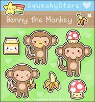 Benny the monkey by SqueakyToybox