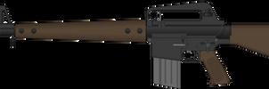 U.S. Rifle, 7.62 mm, M10A1 by Semi-II