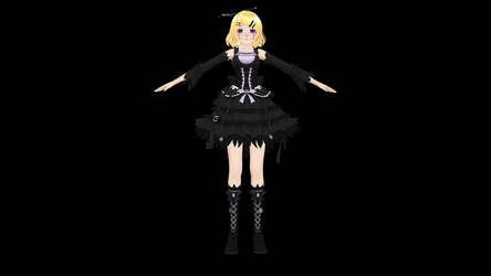 Rin Kagamine Halloween Doll [ model download ] by Poulpegirl