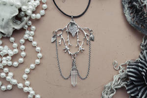 enchanted forest crystal pendant by R3ik0n