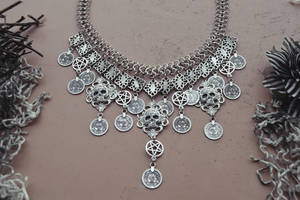 occult gypsy pirate necklace by R3ik0n