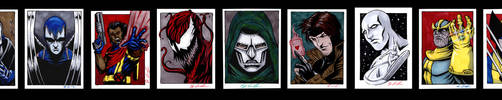 Marvel Sketch Cards by jpc-art