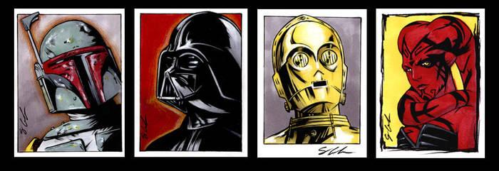 Star Wars Sketch Cards by jpc-art