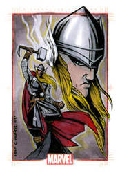 Marvel 70th Anni. Thor Card by jpc-art