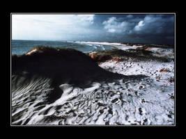 Cloudy beach by genr