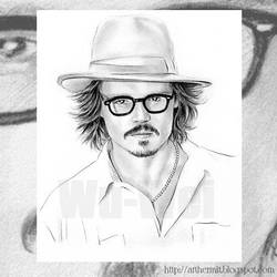 Johnny Depp portrait by whu-wei