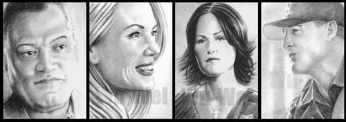 CSI mini-portrait sketchcards by whu-wei