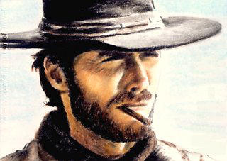 Clint Eastwood mini-portrait by whu-wei