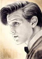Matt Smith mini-portrait by whu-wei