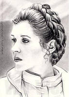 Carrie Fisher miniature by whu-wei